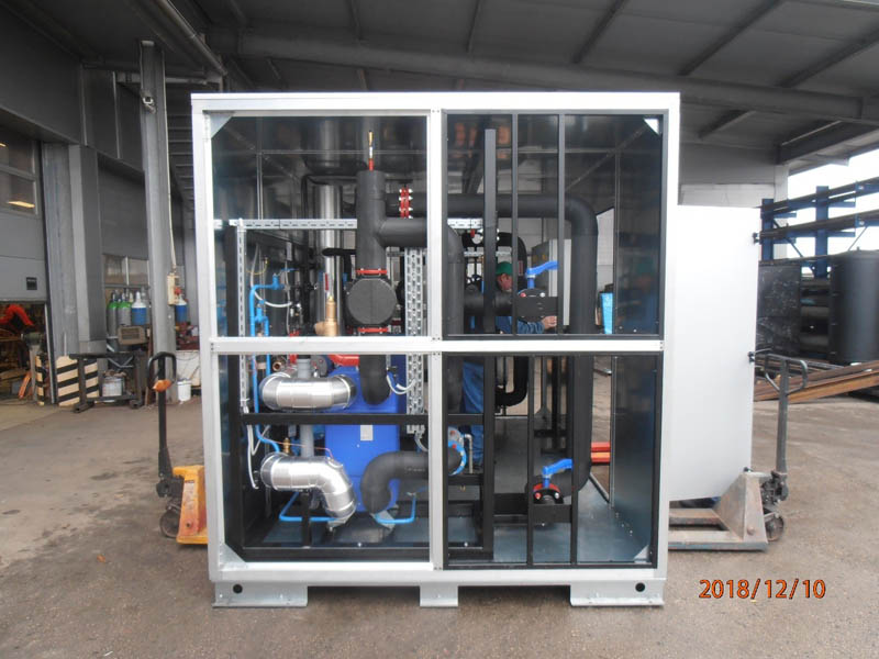 Containerized mobile compact heating substation