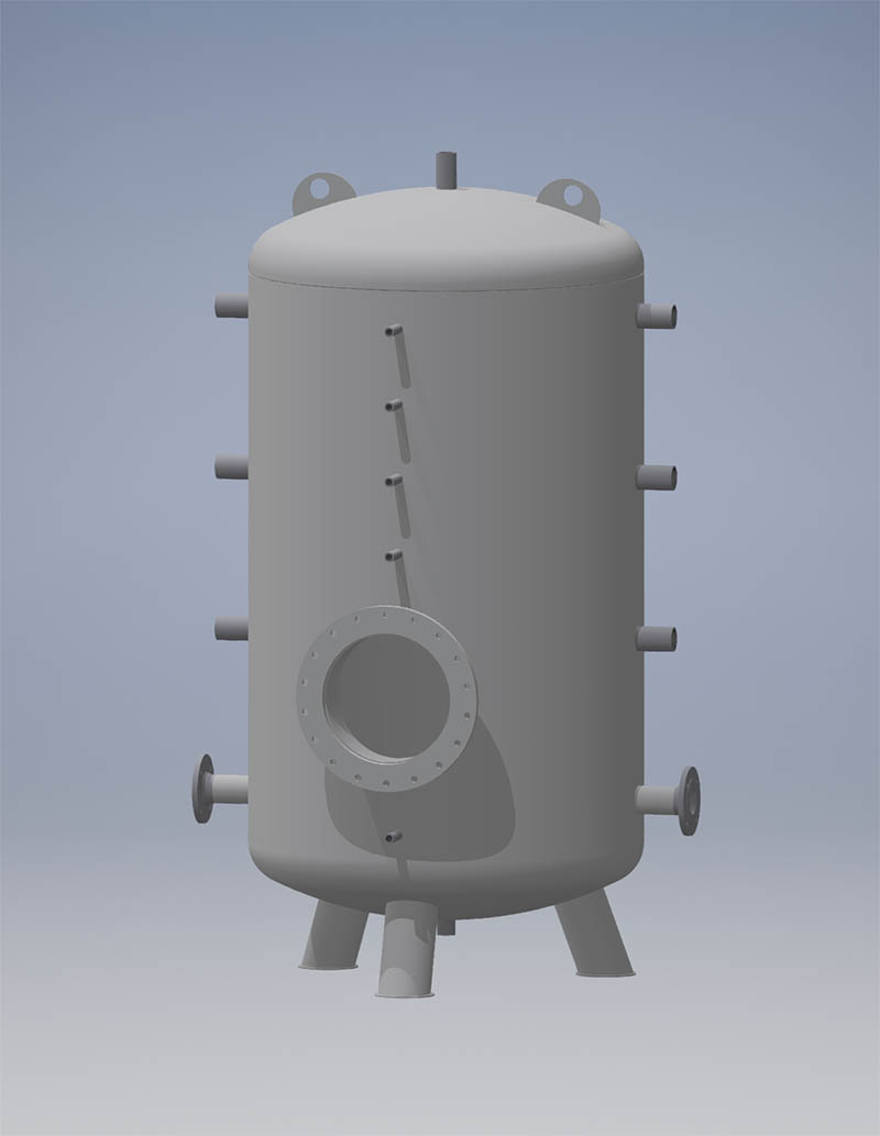 Heating/cooling medium storage vessels